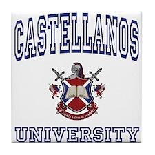CASTELLANOS University Tile Coaster