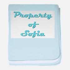 Property Of Sofia Female baby blanket