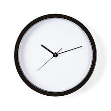 raised inthe bronx(blk) Wall Clock