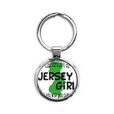 jersey girl Round Keychain