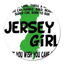 jersey girl Round Car Magnet
