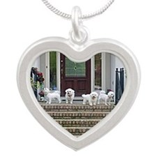 FANTASTIC 4 II GREETING CARD Silver Heart Necklace