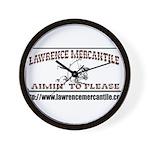 Lawrence Mercantile Wall Clock