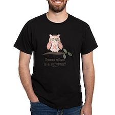 GuessWhooSurvivorPinkRibbon T-Shirt