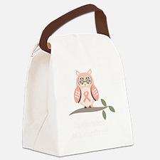 GuessWhooSurvivorPinkRibbonDkT Canvas Lunch Bag