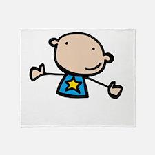 Autistic Kid -dk Throw Blanket