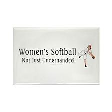 Women's Softball Rectangle Magnet
