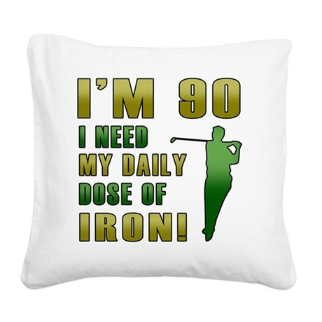 Iron 90 Square Canvas Pillow