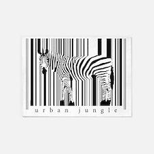 2-zebra-art-big 5'x7'Area Rug