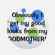 obviously_godmother_boy Round Ornament
