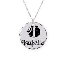 Isabella Grunge Necklace Circle Charm