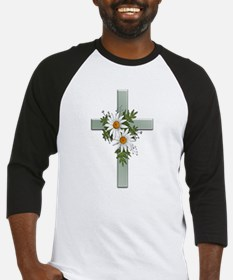 Green Cross w/Daisies 2 Baseball Jersey