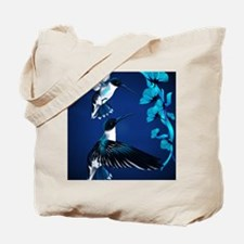 two blue Hummingbirds PosterP Tote Bag