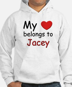 My heart belongs to jacey Hoodie Sweatshirt