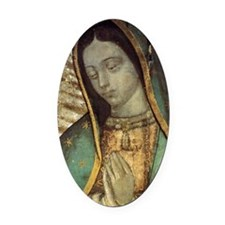 Our Lady of Guadalupe - close up G Oval Car Magnet