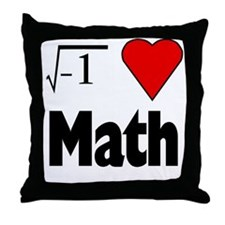 I heart math Throw Pillow