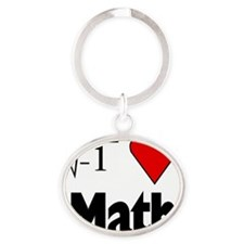 I heart math Oval Keychain
