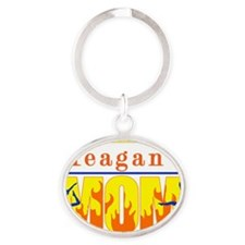 Meagans_Mom Oval Keychain