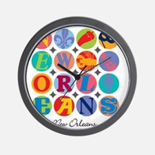 New Orleans Themes Wall Clock