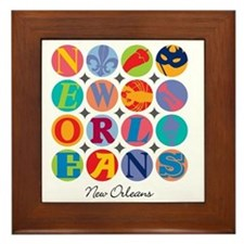New Orleans Themes Framed Tile