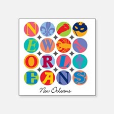 "New Orleans Themes Square Sticker 3"" x 3"""