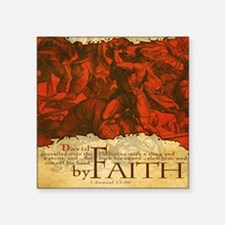 "Mousepad_ByFaith_David Square Sticker 3"" x 3"""