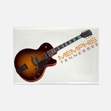Memphis Guitar Rectangle Magnet
