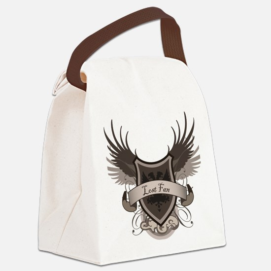 2-Lost-Fan Canvas Lunch Bag