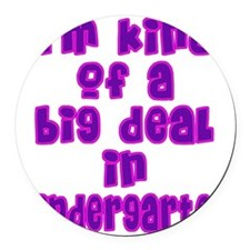 kindergarten_girls Round Car Magnet
