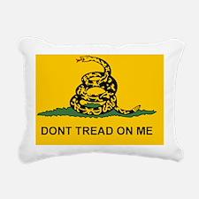 2-Flat Dont Tread Flag s Rectangular Canvas Pillow