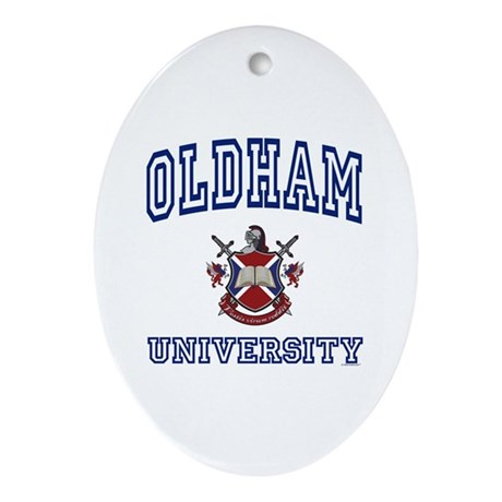 OLDHAM University Oval Ornament