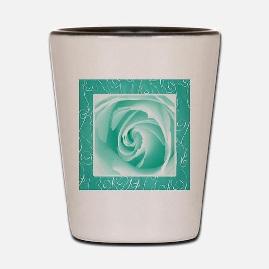 Seafoam_lace_Rose_PILLOW Shot Glass