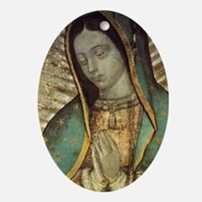 Our Lady of Guadalupe - Large Poster Oval Ornament