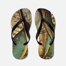Our Lady of Guadalupe - Large Poster Flip Flops