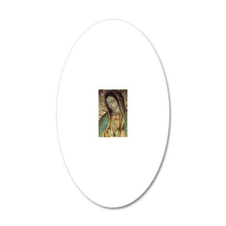 Our Lady of Guadalupe - Larg 20x12 Oval Wall Decal