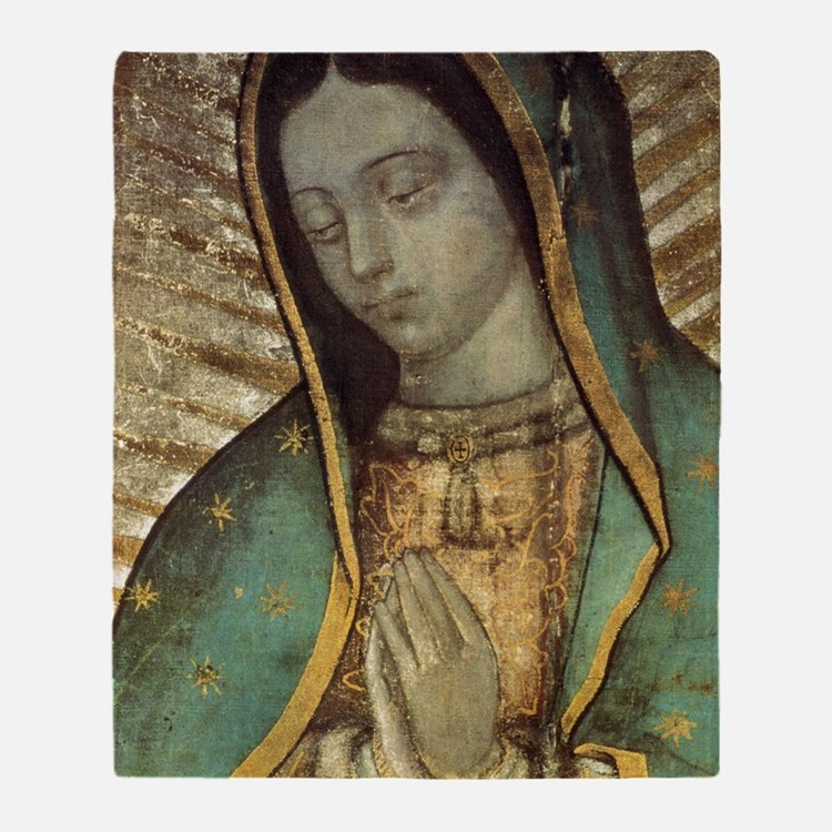 Our Lady of Guadalupe - Large Poster Throw Blanket