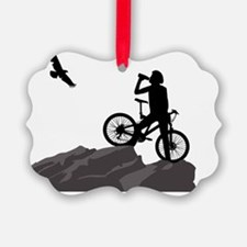 The Climb Mountain Biking Design Ornament
