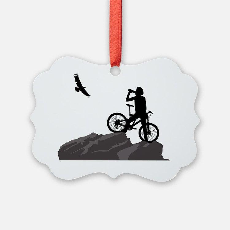 The Climb Mountain Biking Design Ornament
