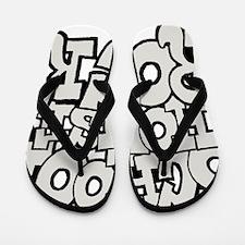 3-schoolhouserock_gray Flip Flops