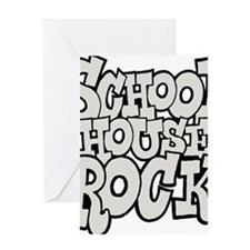 3-schoolhouserock_gray Greeting Card