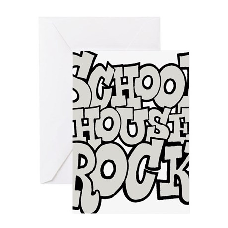 3-schoolhouserock_gray Greeting Card