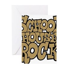 3-schoolhouserock_brown Greeting Card