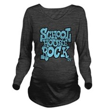 3-schoolhouserock_bl Long Sleeve Maternity T-Shirt