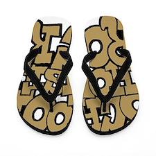 3-schoolhouserock_brown Flip Flops