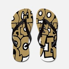 3-schoolhouserock_brown Flip Flops