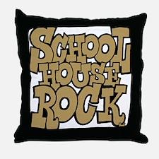 3-schoolhouserock_brown Throw Pillow