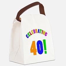 Rainbow 40 Canvas Lunch Bag