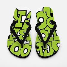 3-schoolhouserock_green Flip Flops