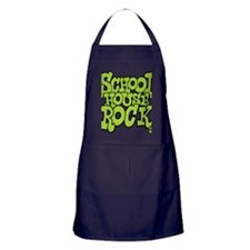3-schoolhouserock_green Apron (dark)