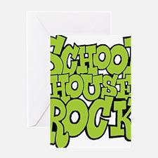 3-schoolhouserock_green Greeting Card